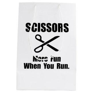 Scissors Fun Medium Gift Bag