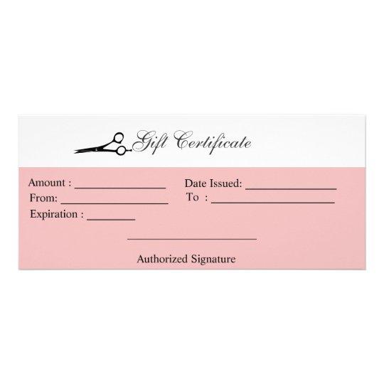 Scissors Gift Certificate