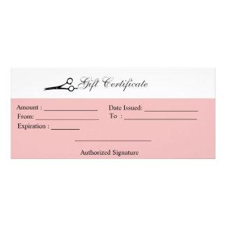 Scissors Gift Certificate Personalized Rack Card