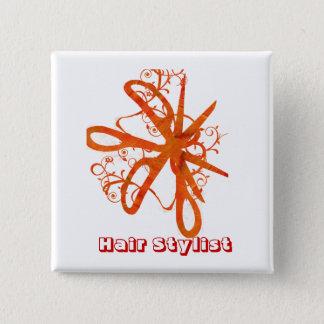 Scissors Hair Salons HairStylist Button