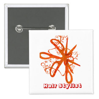 Scissors Hair Salons HairStylist Pinback Button