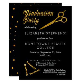 Scissors | Hairpin Beauty School Graduation Party Card