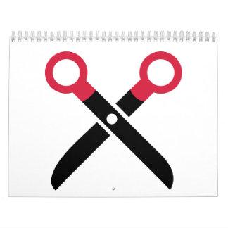 Scissors icon calendar