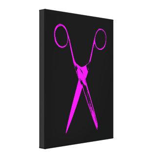 Scissors - pink canvas print