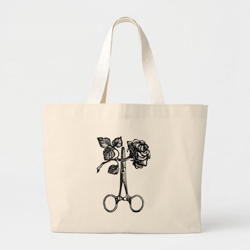 Scissors & Rose Tote Bag