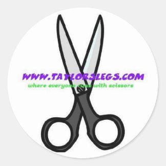 scissors round sticker
