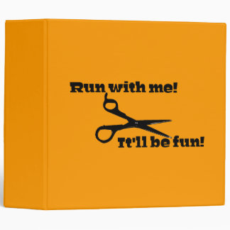 Scissors - Run With Me! It'll Be Fun! Binder