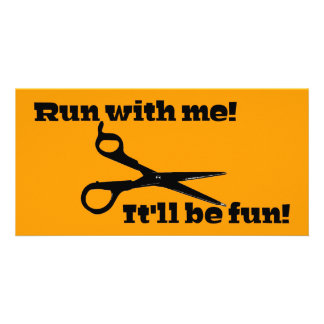 Scissors - Run With Me! It'll Be Fun! Card