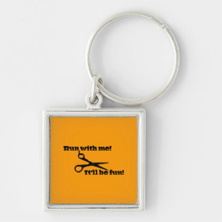 Scissors - Run With Me! It'll Be Fun! Keychain