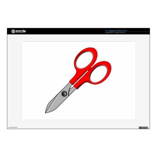 """Scissors Skin For 15"""" Laptop"""