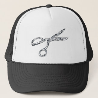 Scissors with Haircuts Trucker Hat