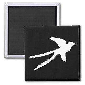 Scissortail Flycatcher 2 Inch Square Magnet