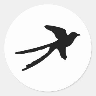 Scissortail Flycatcher Classic Round Sticker