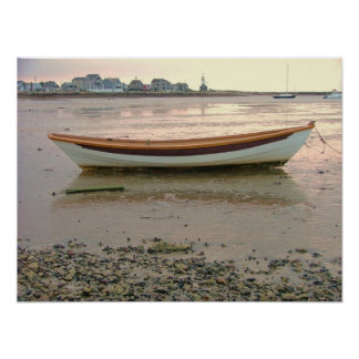 scituate harbor low tide dory print