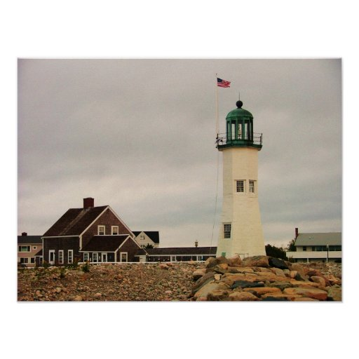 scituate light house print