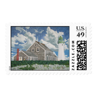 Scituate Lighthouse Postage Stamp