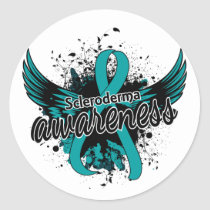 Scleroderma Awareness 16 Classic Round Sticker