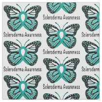 Scleroderma Awareness Butterfly Fabric