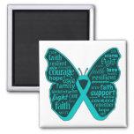 Scleroderma Awareness Butterfly Ribbon Refrigerator Magnet