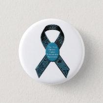 Scleroderma Awareness Camo Teal Ribbon Button