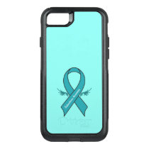 Scleroderma Awareness Ribbon with Wings OtterBox Commuter iPhone 8/7 Case
