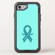 Scleroderma Awareness Ribbon with Wings OtterBox Defender iPhone 8/7 Case