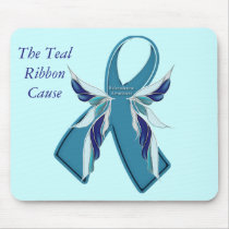 Scleroderma Awareness Teal Ribbon Cause Mousepad