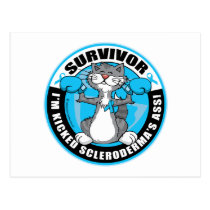 Scleroderma Boxing Cat Postcard