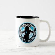 Scleroderma Boxing Girl Two-Tone Coffee Mug