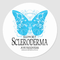 Scleroderma Butterfly 2 Classic Round Sticker