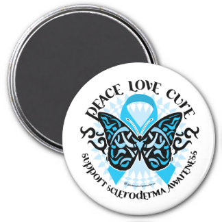 Scleroderma Butterfly Tribal 3 Inch Round Magnet