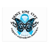 Scleroderma Butterfly Tribal Postcard