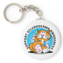 Scleroderma Cat Keychain