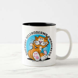 Scleroderma Cat Two-Tone Coffee Mug
