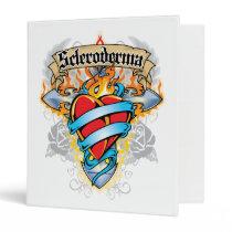 Scleroderma Cross & Heart 3 Ring Binder