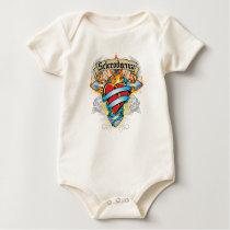 Scleroderma Cross & Heart Baby Bodysuit