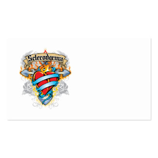 Scleroderma Cross & Heart Business Card