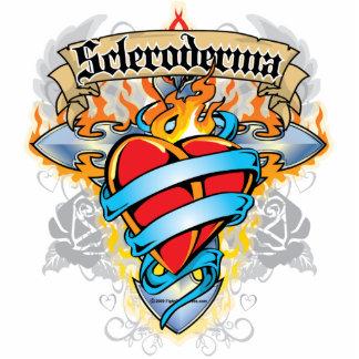 Scleroderma Cross & Heart Statuette
