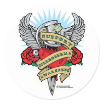 Scleroderma Dagger Classic Round Sticker