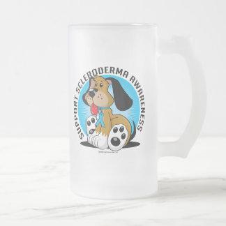 Scleroderma Dog Frosted Glass Beer Mug