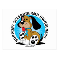 Scleroderma Dog Postcard