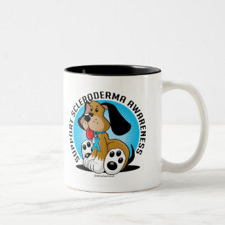 Scleroderma Dog Two-Tone Coffee Mug