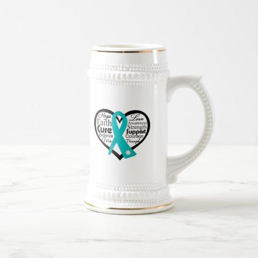 Scleroderma Heart Ribbon Collage Coffee Mug