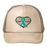 Scleroderma Heart Ribbon Collage Hat
