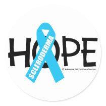 Scleroderma Hope Classic Round Sticker