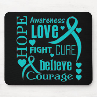 Scleroderma Hope Words Collage Mouse Pad