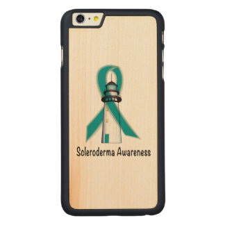 Scleroderma Lighthouse of Hope Carved Maple iPhone 6 Plus Slim Case