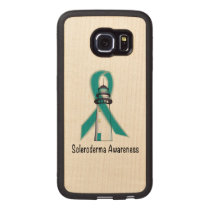 Scleroderma Lighthouse of Hope Wood Phone Case