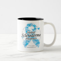 Scleroderma Ribbon of Butterflies Two-Tone Coffee Mug