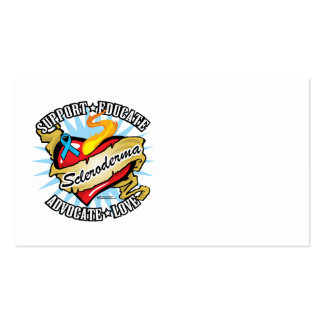 Scleroderma Tattoo Heart Business Card